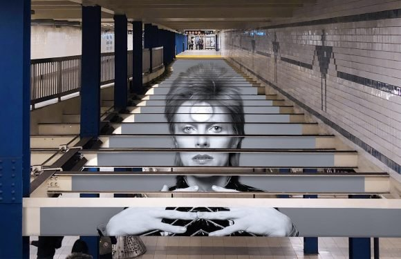 Inside Spotify's Massive David Bowie 'Subway Takeover' (Photos)
