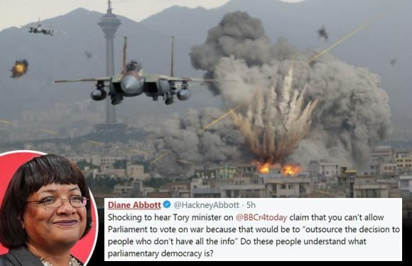 Diane Abbott uses FAKE pic of 'Israeli attack on Iran' as she slams Syria strikes