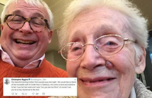 Christopher Biggins' 'beautiful' mum Pam has died as he praises her for maintaining her sense of humour