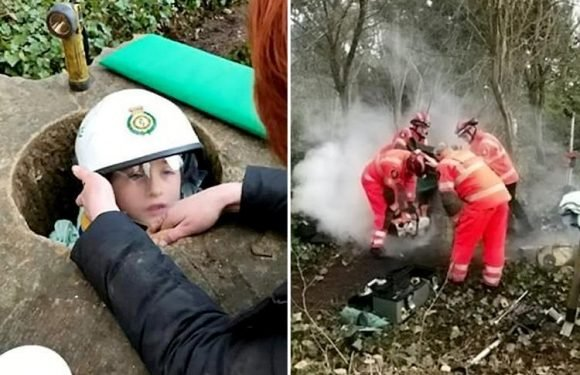 Young lad had to be cut out of a National Trust stone monument with an angle grinder after getting stuck inside for THREE HOURS