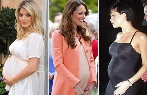 Holly Willoughby is named best dressed celebrity mum-to-be… beating Kate Middleton and Victoria Beckham