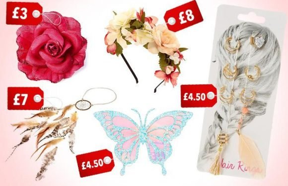 Claire's have a new range of gorgeous festival hair accessories and prices start at £3