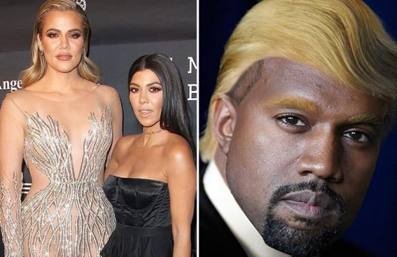 Kim Kardashian's sisters unfollow Kanye West on Twitter as a host of stars also ditch rapper over his support for 'my brother' Donald Trump