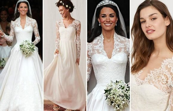 H&M is selling a dupe of Kate Middleton's Alexander McQueen wedding dress for just £150