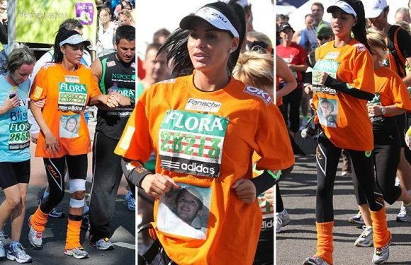 Katie Price relives horror of suffering a miscarriage during the London Marathon just days before she attempts the race again this weekend with a knee injury