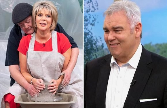 Ruth Langsford recreates Ghost pottery scene with Johnny Vegas as husband Eamonn grimaces watching on