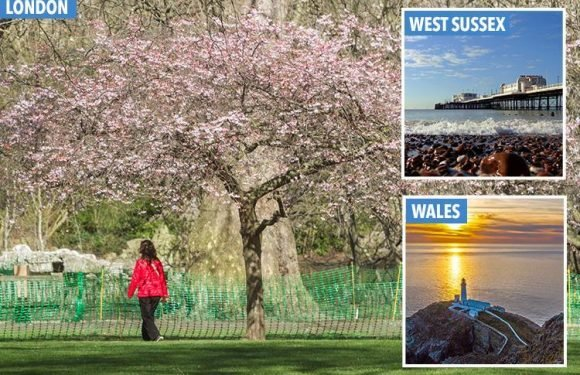 UK weather – Britain to enjoy hottest day of the year so far on Friday as temperatures soar to 18C after Easter washout