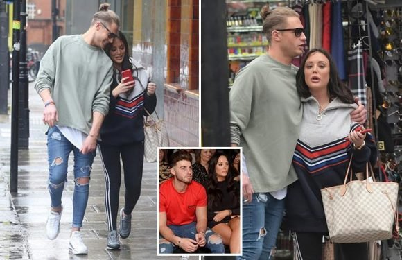 Charlotte Crosby heads out shopping with Geordie Shore pal Scotty T the day before holiday with boyfriend Joshua Ritchie