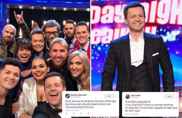 Fans back Declan Donnelly to host Britain's Got Talent and I'm A Celeb without Ant McPartlin after presenting Saturday Night Takeaway solo
