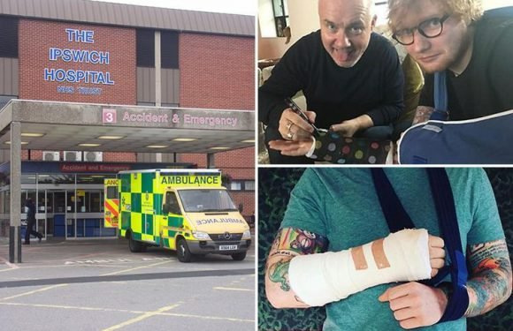 Hospital launches review after Ed Sheeran was asked for selfies by staff treating his broken arm