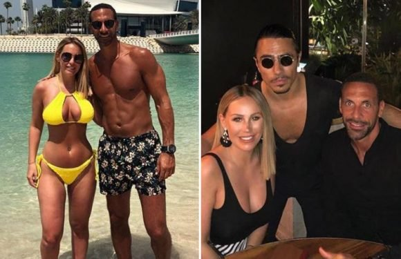 Kate Wright sizzles in a bright yellow bikini on Easter holiday in Dubai with hunky boyfriend Rio Ferdinand