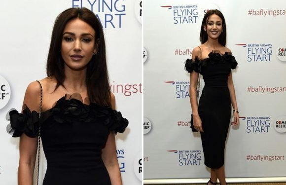 Michelle Keegan leads the glamour in a stunning black dress at British Airways gala