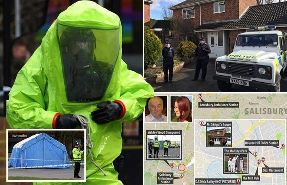 Novichok nerve agent used on Russian spy Sergei Skripal may still be at toxic levels at 9 'hotspots' around Salisbury, Government warns