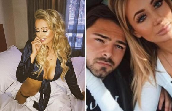 Olivia Attwood poses with footballer Bradley Dack for the first time after appearing to confirm their romance