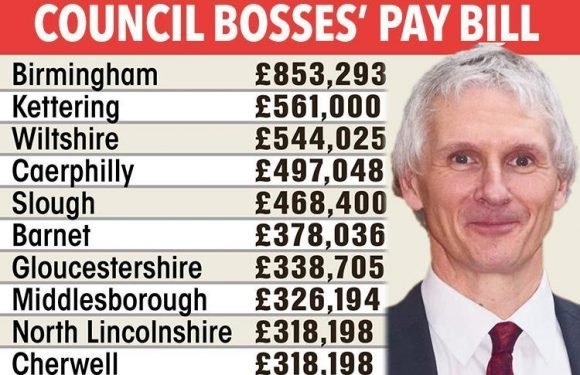 Council chiefs pay hiked by thousands as ordinary Brits see taxes soar