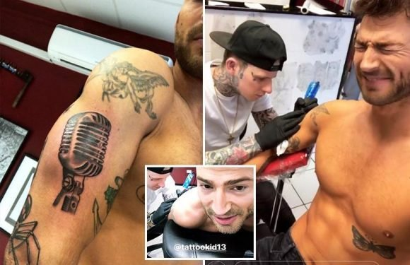 Jake Quickenden gets three tattoos in honour of his reality TV career