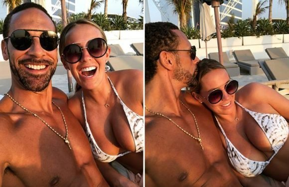 Kate Wright shares busty selfies with boyfriend Rio Ferdinand as they holiday in Dubai