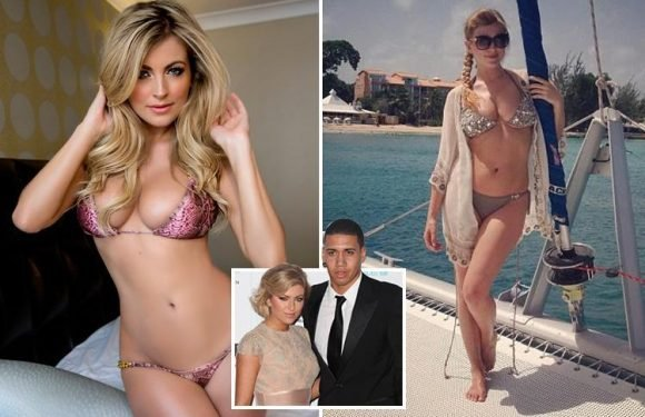Sam Smalling strips down to bikini as footie star husband Chris prepares for semi
