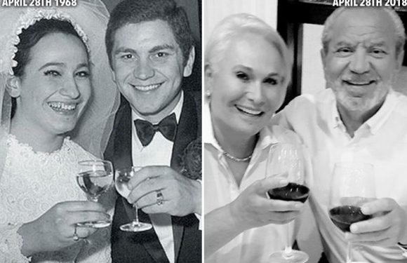 Lord Alan Sugar shares throwback snap as he celebrates 50th wedding anniversary with wife Ann