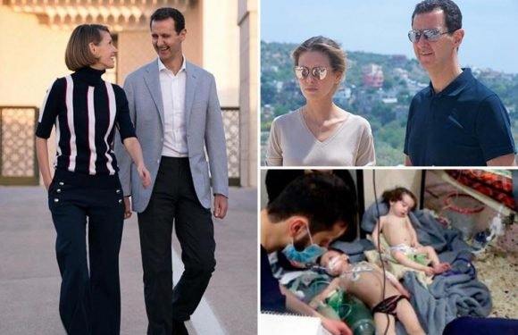 How Syrian butcher Assad and his British 'First Lady of Hell' boast about their perfect lives while kids are gassed to death in the street