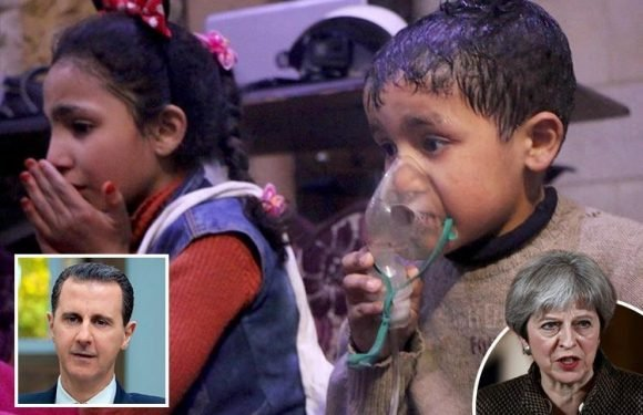 Theresa May: Syrian children are gasping for life as Assad's gas chokes them — it must stop now