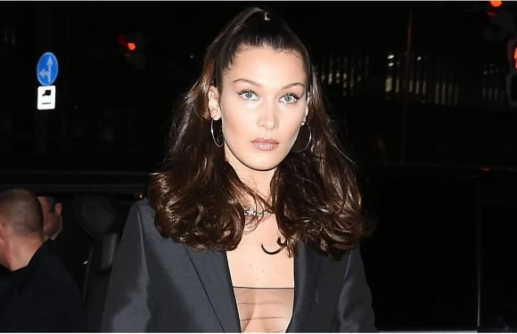 Hello There: Bella Hadid's See-Through Top Played Peekaboo Under Her Blazer