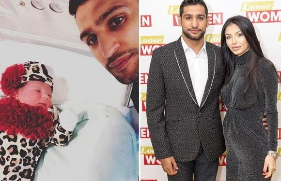 Amir Khan reveals wife Faryal has given birth to their second daughter – and they've called her Alayna
