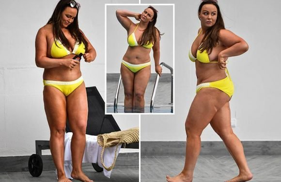 Chanelle Hayes shows off incredible weight loss in a yellow bikini after losing two dress sizes 'made her feel sexy again'