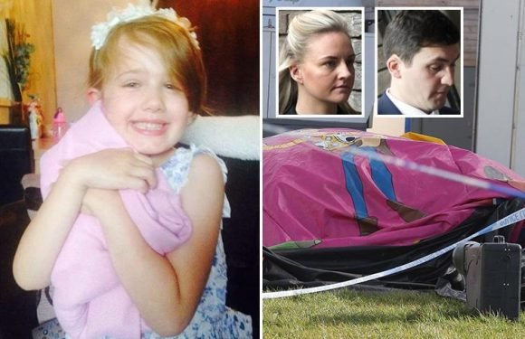 Distraught dad chased 'cartwheeling' bouncy castle after it blew away killing daughter, 7, inside