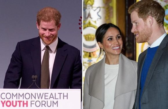 Prince Harry gushes about marrying Meghan Markle as he hints at her new Commonwealth role in first speech as ambassador