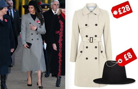 How to get Meghan Markle's trenchcoat and trilby look… for under £40
