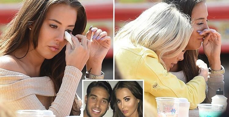 Towie's Yazmin Oukhellou breaks down in tears on girls' day out in Brighton as romance with James Lock reaches crisis point