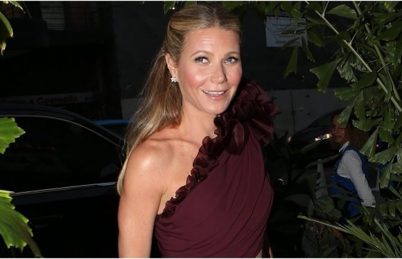 Gwyneth Paltrow's Stunning Engagement Party Gown Came With Not 1 but 2 Sexy Cutouts