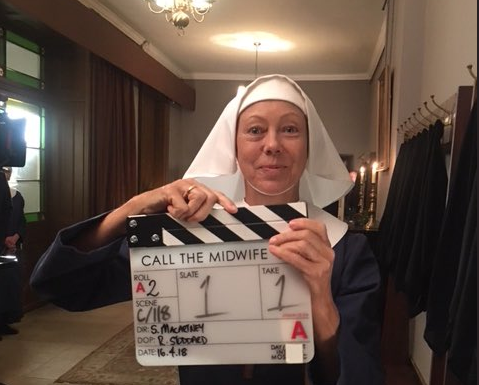 Call The Midwife's Jenny Agutter reveals series eight starts filming today as she poses for a picture behind the scenes