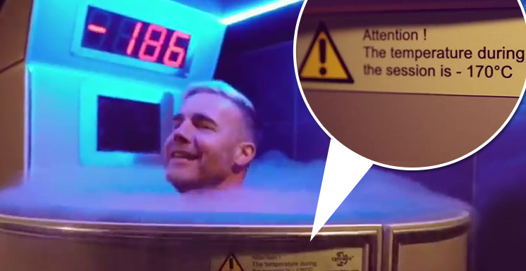Gary Barlow uses 'horrific' cryotherapy chamber at -200 degrees ahead of solo tour