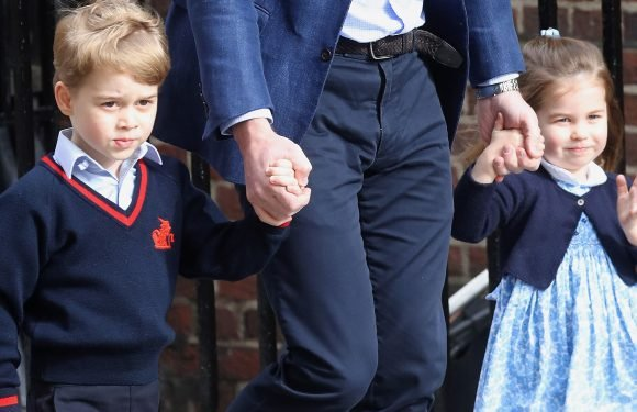 Everyone Missed Prince George Flicking Princess Charlotte's Head While Meeting the Royal Baby
