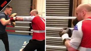 George Groves is throwing punches again… as World Boxing Super Series finalist mocks rival Chris Eubank Jr
