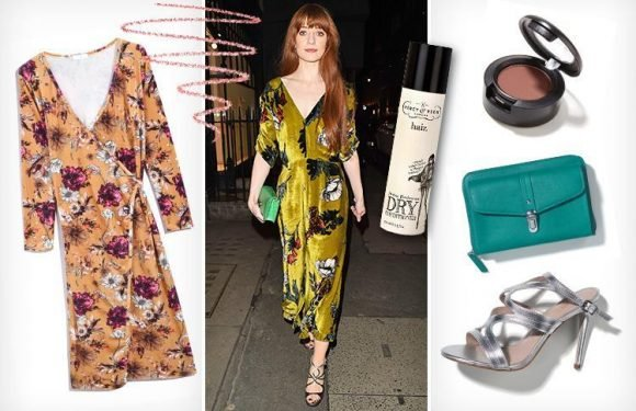How to look like singer Nicola Roberts, 32, who looks gorgeous in a sumptuous velvet dress with striking accessories