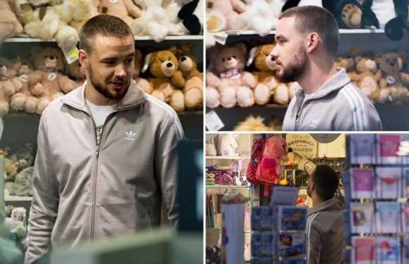 Liam Payne shops for presents for son Bear in Berlin airport
