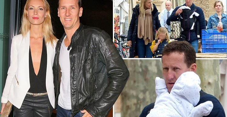 Ex-Strictly Come Dancing star Brendan Cole pops out for lunch with newborn son Danté in Majorca