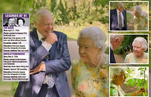 Queen jokes about President Trump and blasts health & safety in frank chat with Sir David Attenborough