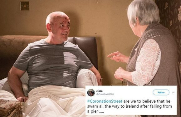 Coronation Street fans confused as Pat Phelan 'arrives in Ireland' with no money hours after he 'died'