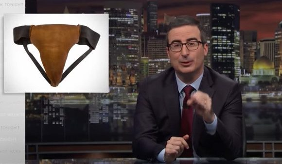 John Oliver spends $7K on Russell Crowe's leather jockstrap