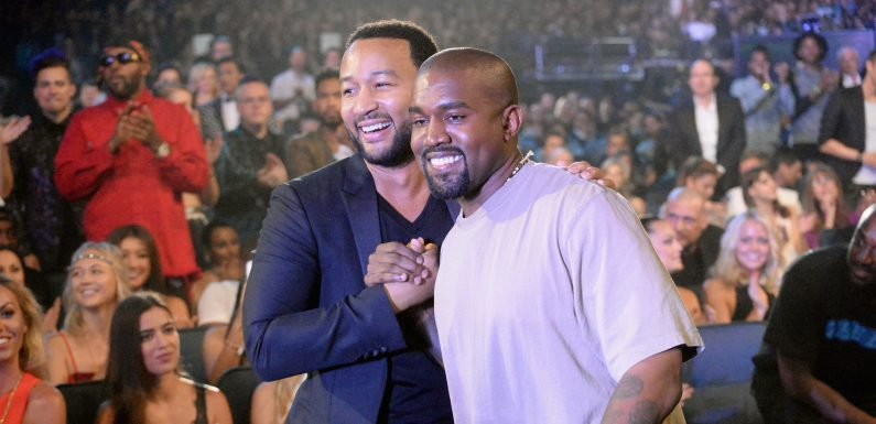 Kanye West and John Legend Seem to Be Having a Very Public Disagreement About Donald Trump