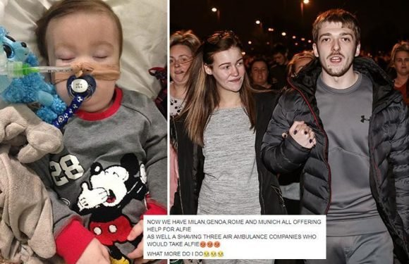Alfie Evans' dad Tom 'has air ambulances waiting' to take stricken son to Italy for treatment after latest appeal fails