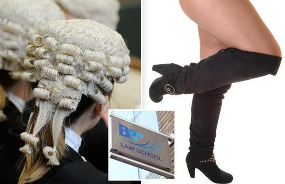 Trainee barristers to be marked down for wearing short skirts or 'kinky boots' in exams