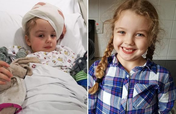 Girl, 6, treated for brain tumour after she hallucinated during playground game
