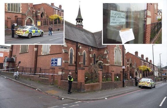 Mum fighting for life after being stabbed outside midnight church service by mystery attacker 'on a bike'