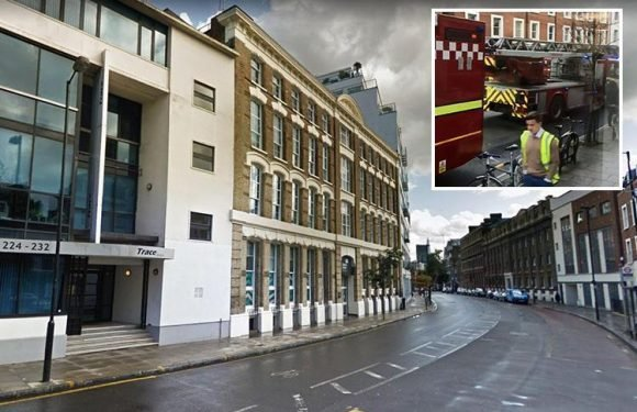 Dozens of firefighters battling fire at London student halls