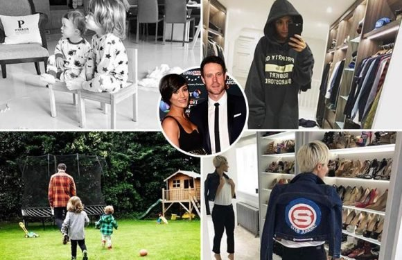 Inside Frankie and Wayne Bridge's VERY glam pad, featuring a huge walk-in wardrobe, glitzy chandeliers and vast garden